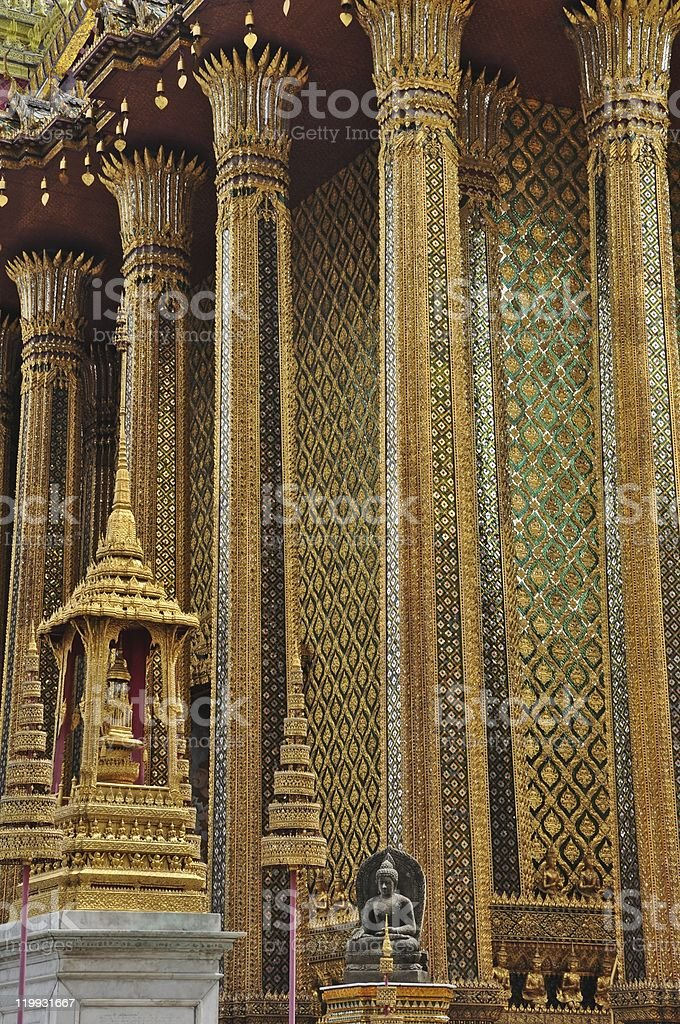 Bangkok zwiedzanie temple of the emerald Budda zbiór zdjęć royalty-free