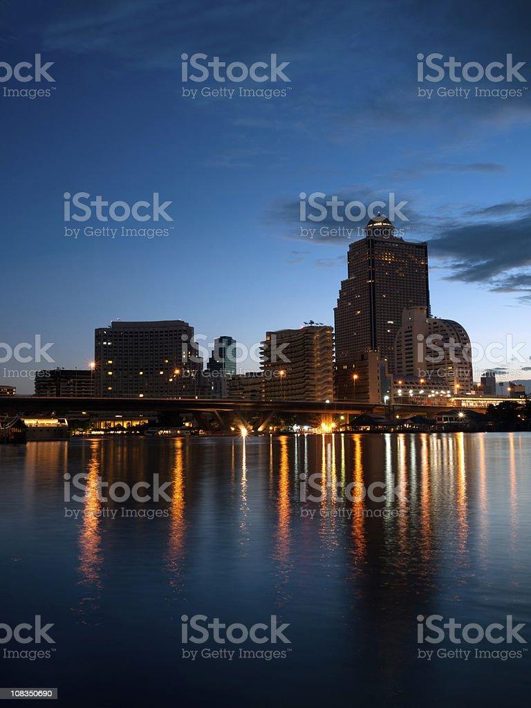 Bangkok Skyline at Dawn stock photo