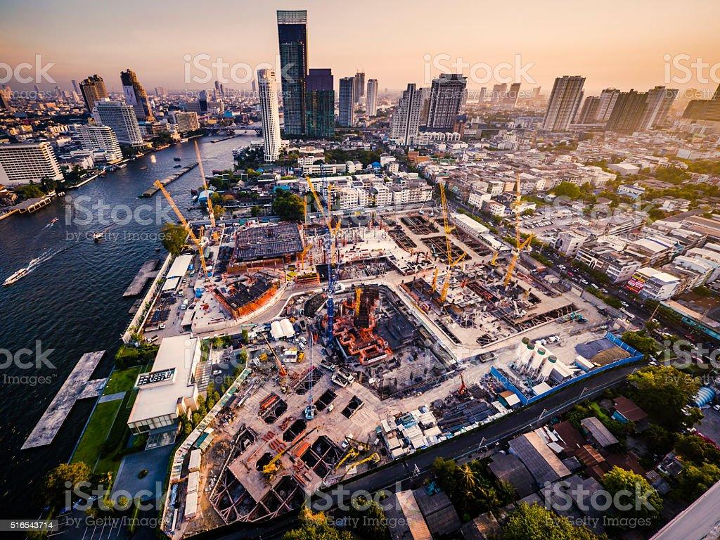 Bangkok skyline Thailand stock photo