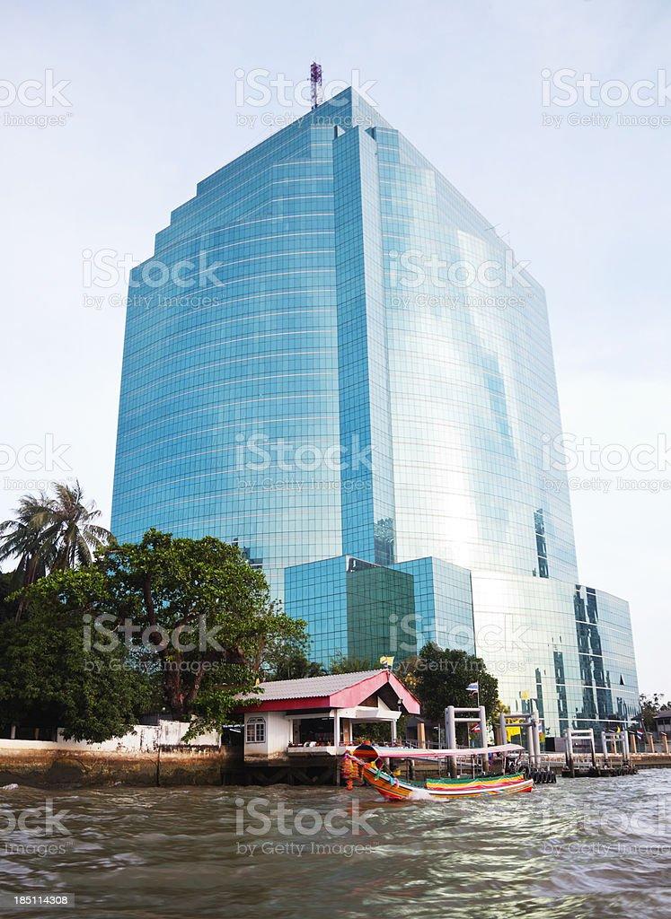 Bangkok skyscraper against blue sky royalty-free stock photo