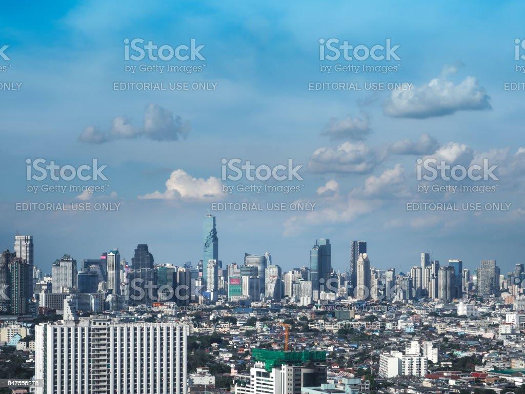 Bangkok skyscraper. Cityscape view stock photo