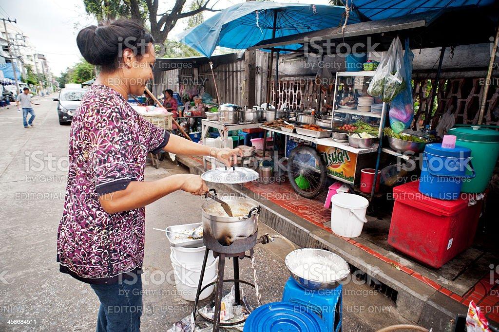 Bangkok Street Food Stall stock photo
