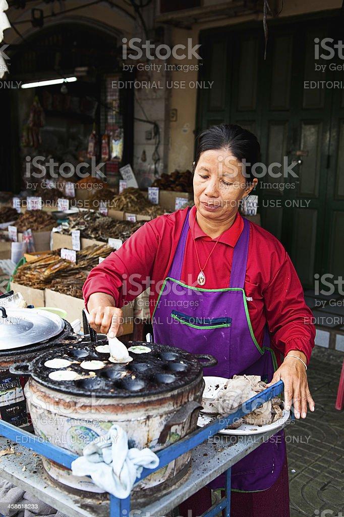 Bangkok street food vendor stock photo