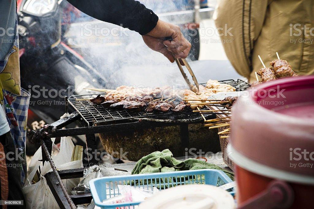 bangkok: street food vendor royalty-free stock photo