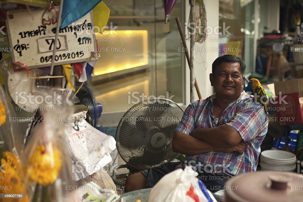 Bangkok Street Vendor royalty-free stock photo