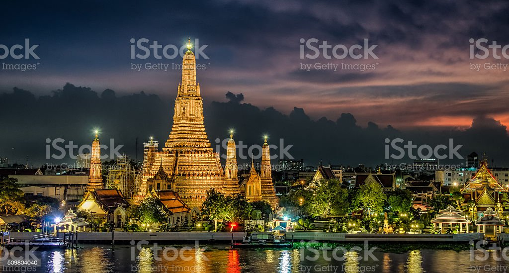 Bangkok Sunset stock photo