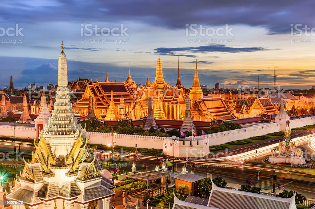 Bangkok Temples and Palace stock photo