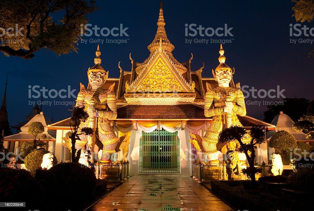 Bangkok Thai Temple at Night royalty-free stock photo