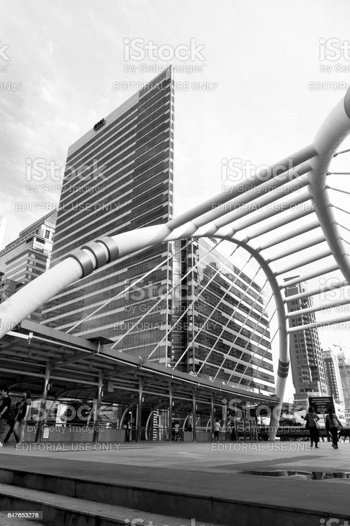 Bangkok, Thailand. Bus Rapid Transit Systems Sathorn stock photo