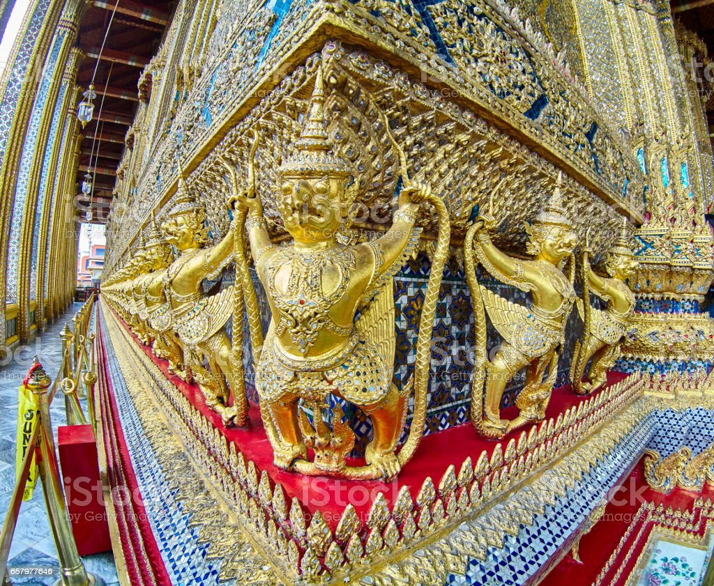 Bangkok Thailand Grand Palace are one of the most popular tourist destinations in Bangkok stock photo