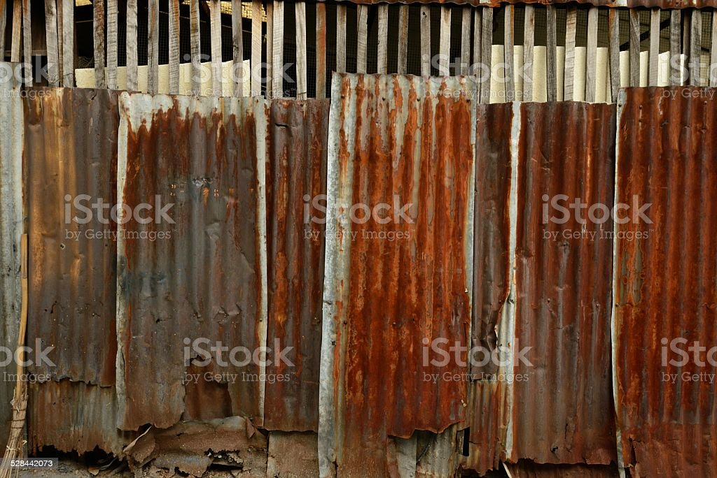 Bangkok Thailand Industrial Rusty Metal Wall Texture stock photo