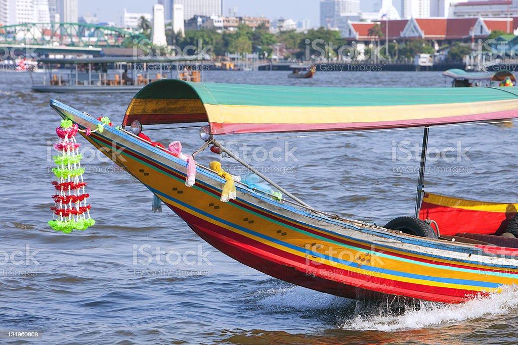 Bangkok Thailand longtail boat royalty-free stock photo