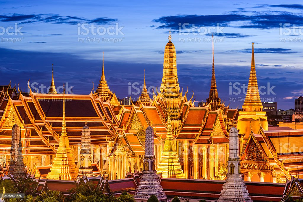 Bangkok Thailand Skyline stock photo