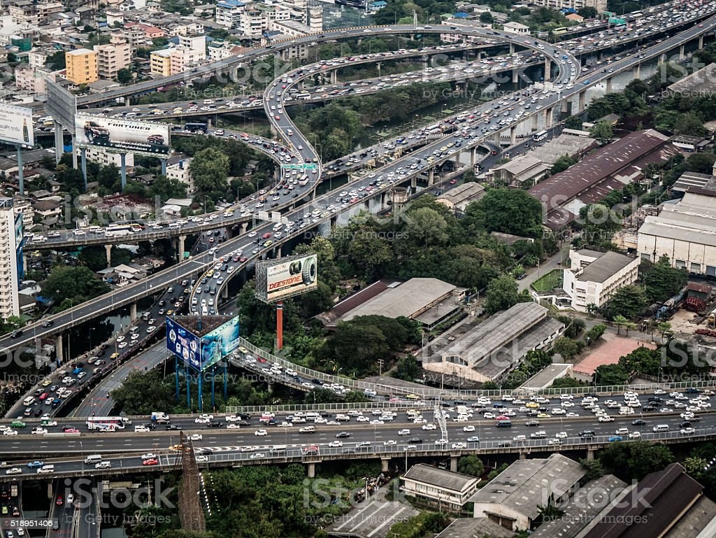 Bangkok traffic Thailand stock photo