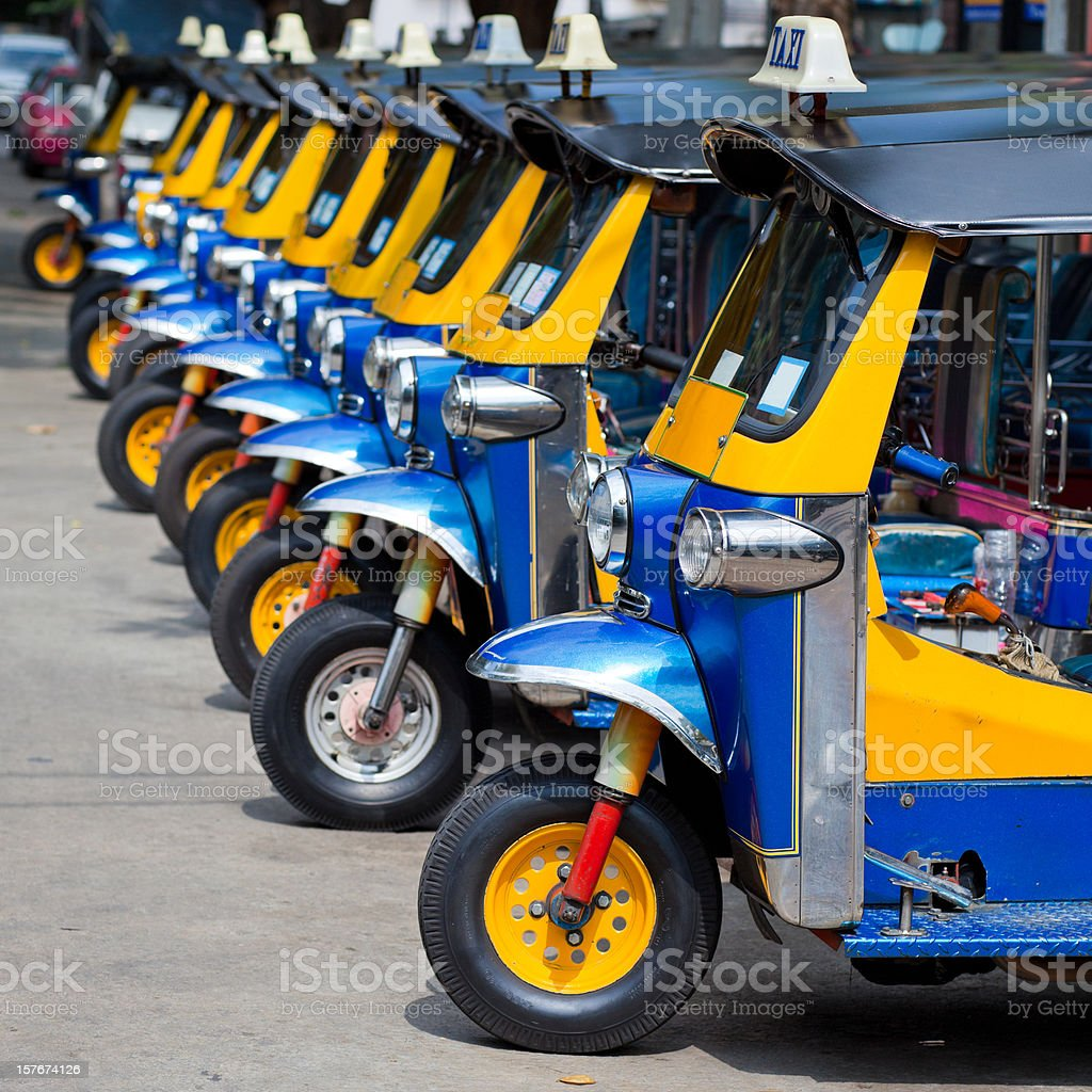 Bangkok tuk-tuks royalty-free stock photo