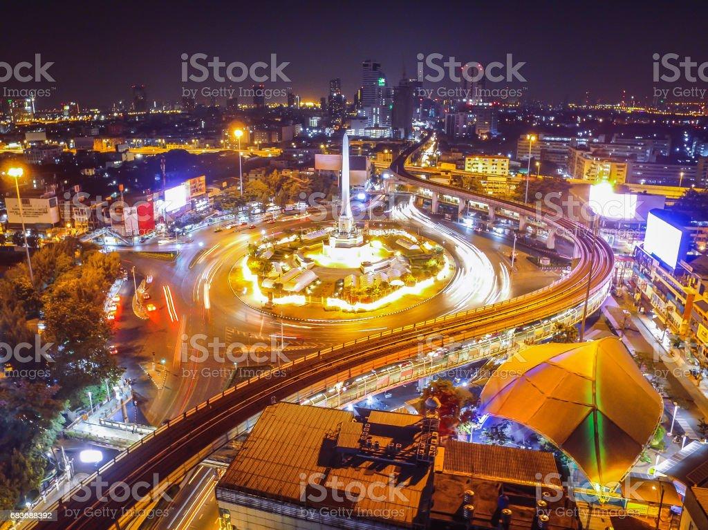 Bangkok victory monument stock photo