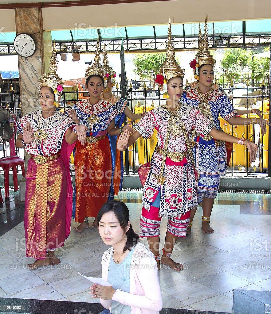 Bangkok_thai dancers royalty-free stock photo