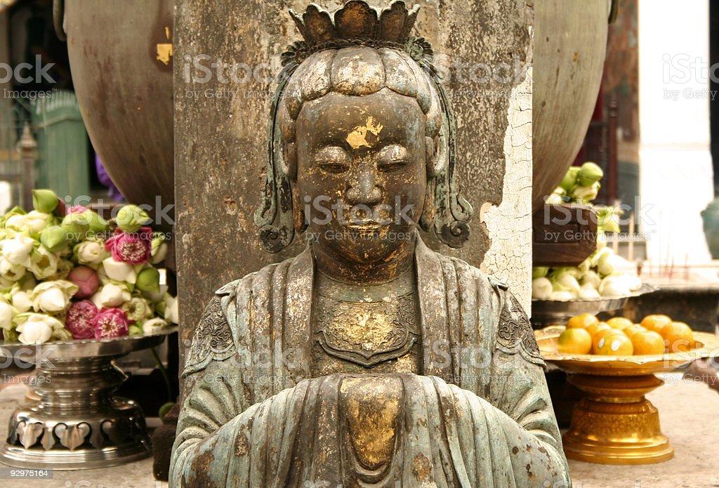 bangkoks grand palace buddhist statue royalty-free stock photo