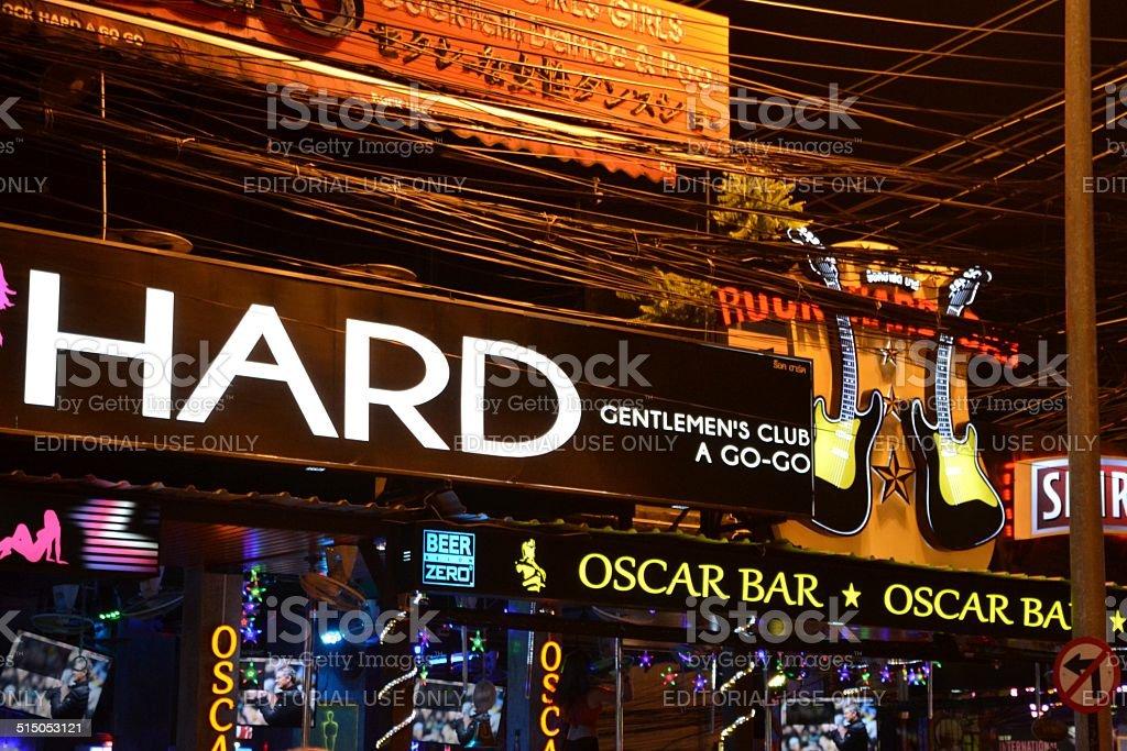 Bangla road bar signs, Patong - Thailand stock photo