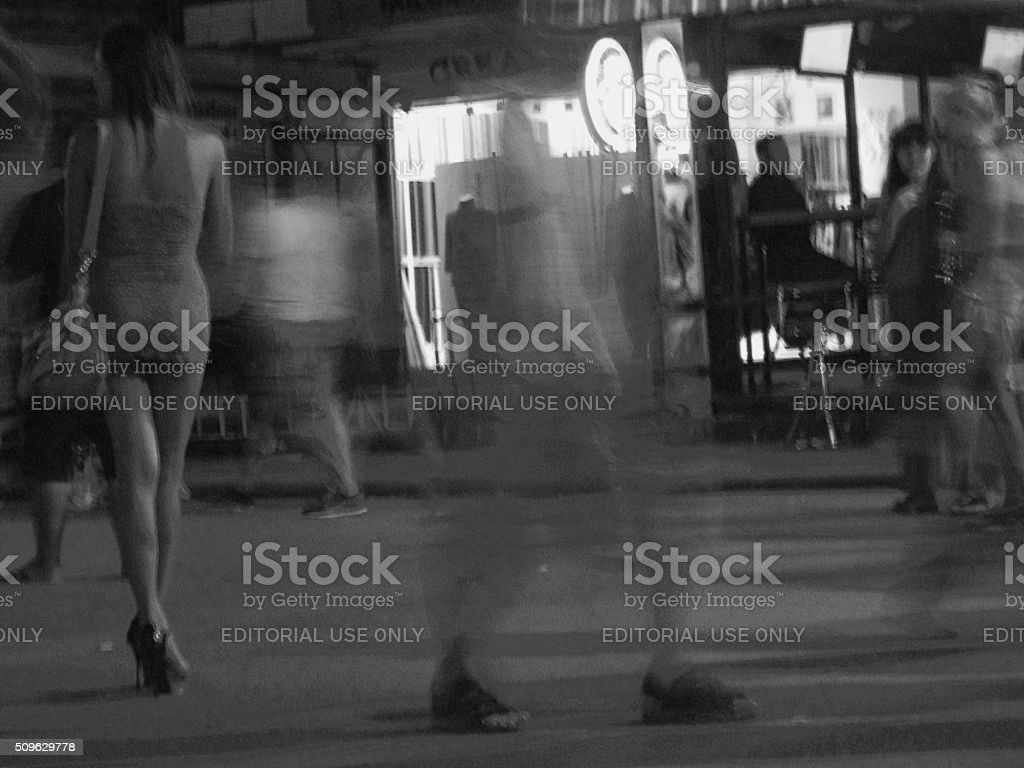 Bangla road nightlife, Patong Thailand stock photo