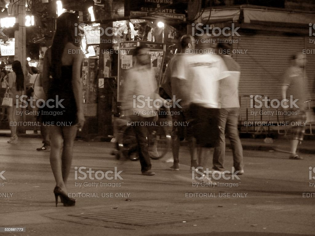 Bangla road nightlife, Patong Thailand stock photo