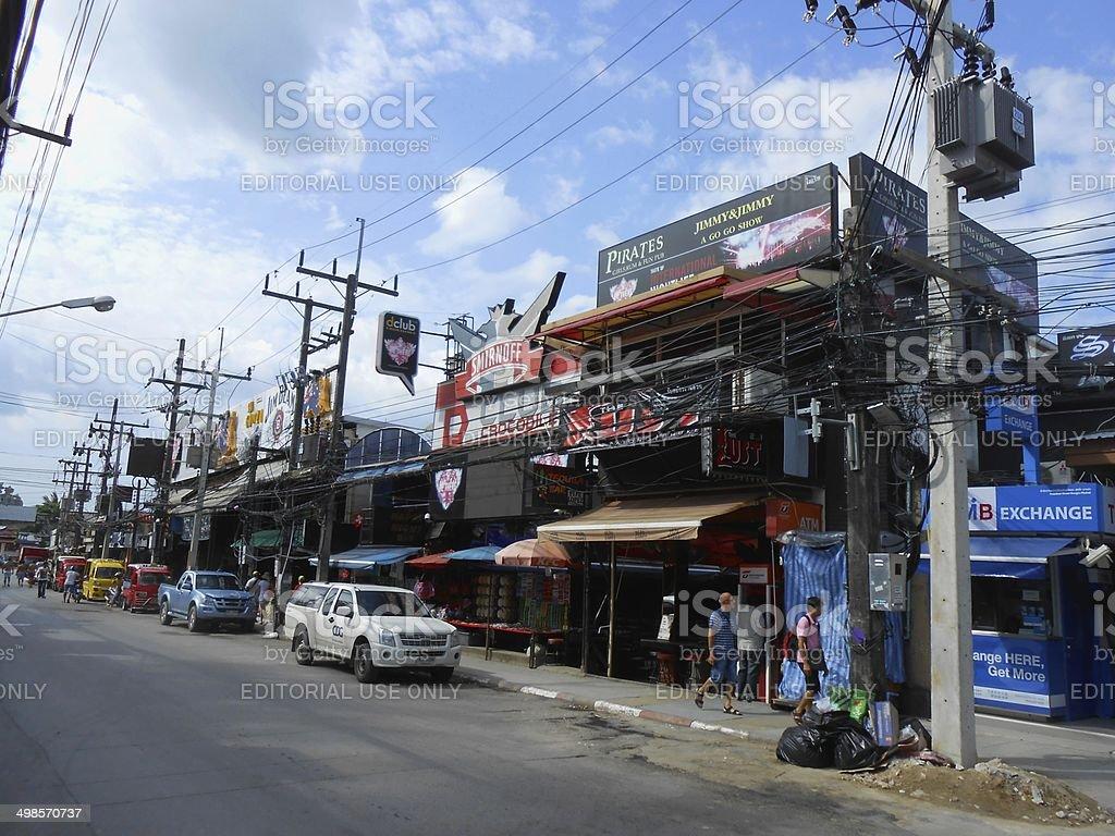 Bangla road, Patong beach - Thailand stock photo