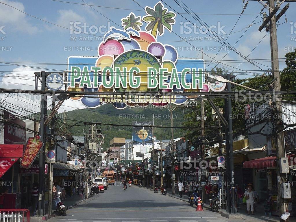 Bangla road, Patong - Thailand stock photo