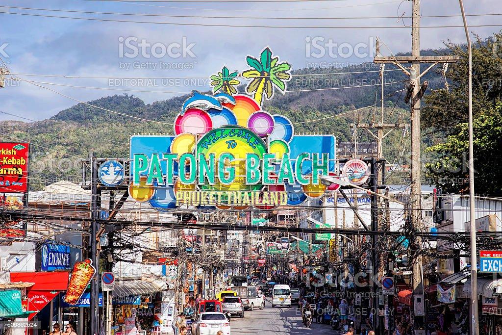 Bangla Road, Phuket, Thailand stock photo