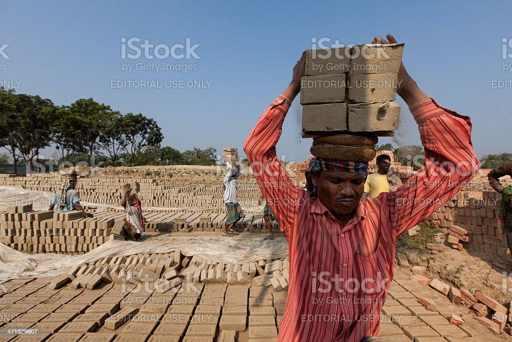Bangladesh and the 10,000 Chimneys stock photo