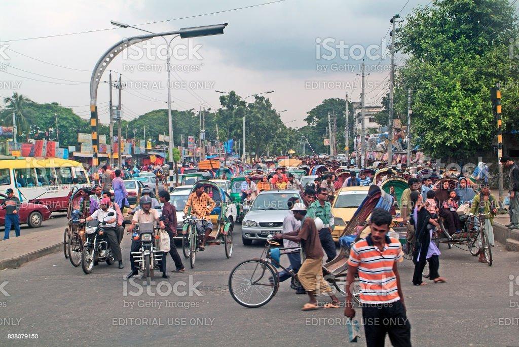 Bangladesh, Dhaka, Traffic stock photo
