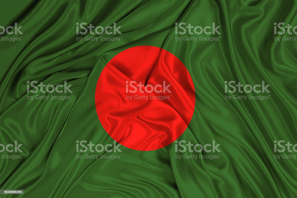 Bangladesh flag of silk stock photo