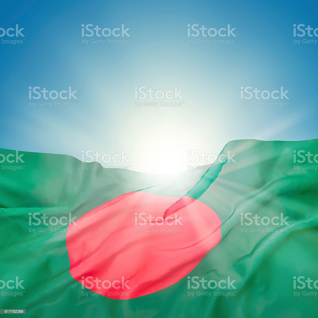 Bangladesh national official state flag stock photo