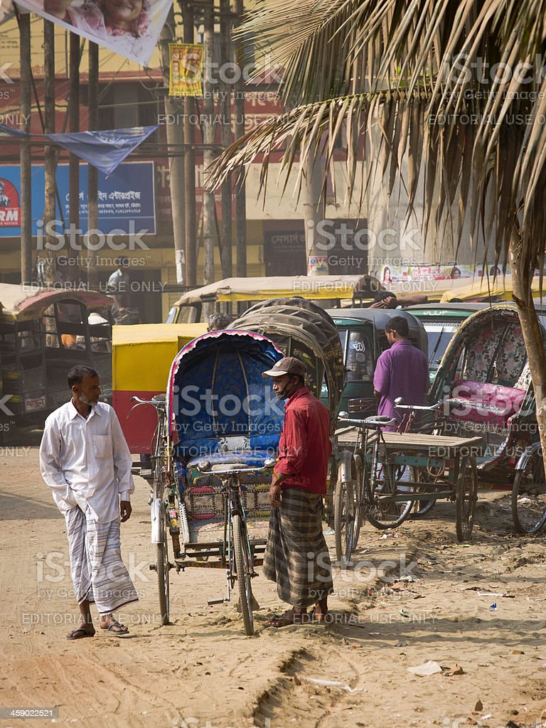 Bangladesh rickshaw pullers struggling for better life stock photo