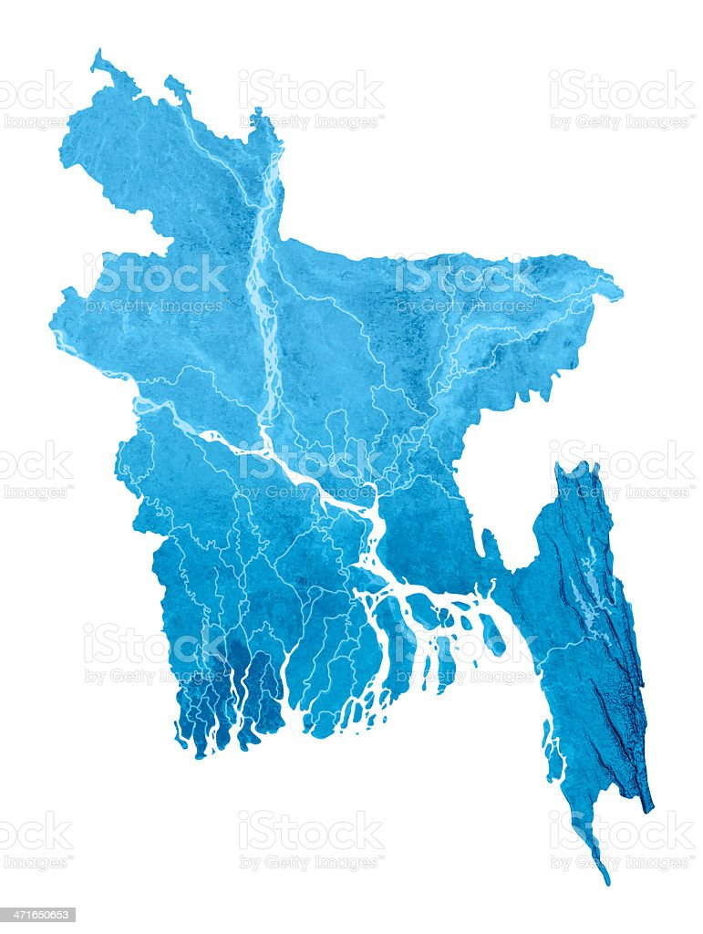 Bangladesh Topographic Map Isolated stock photo