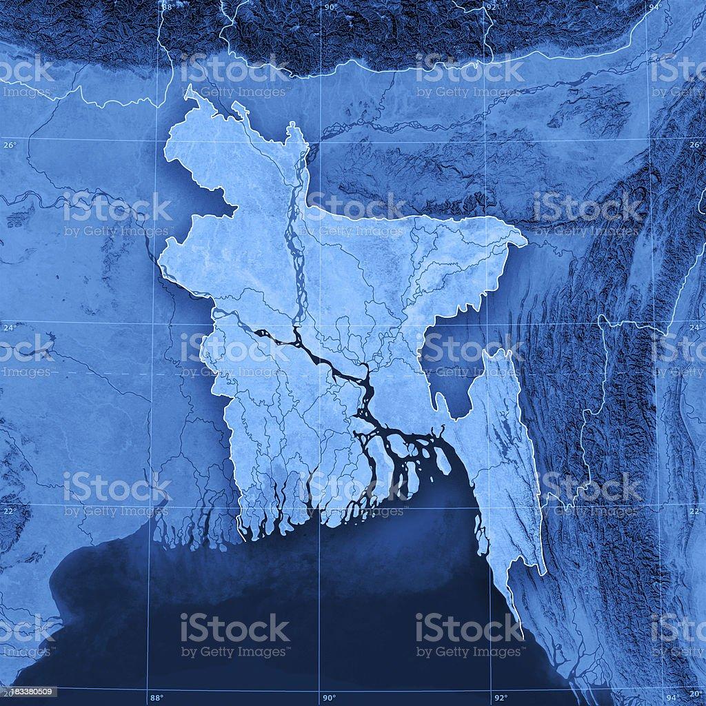 Bangladesh Topographic Map stock photo