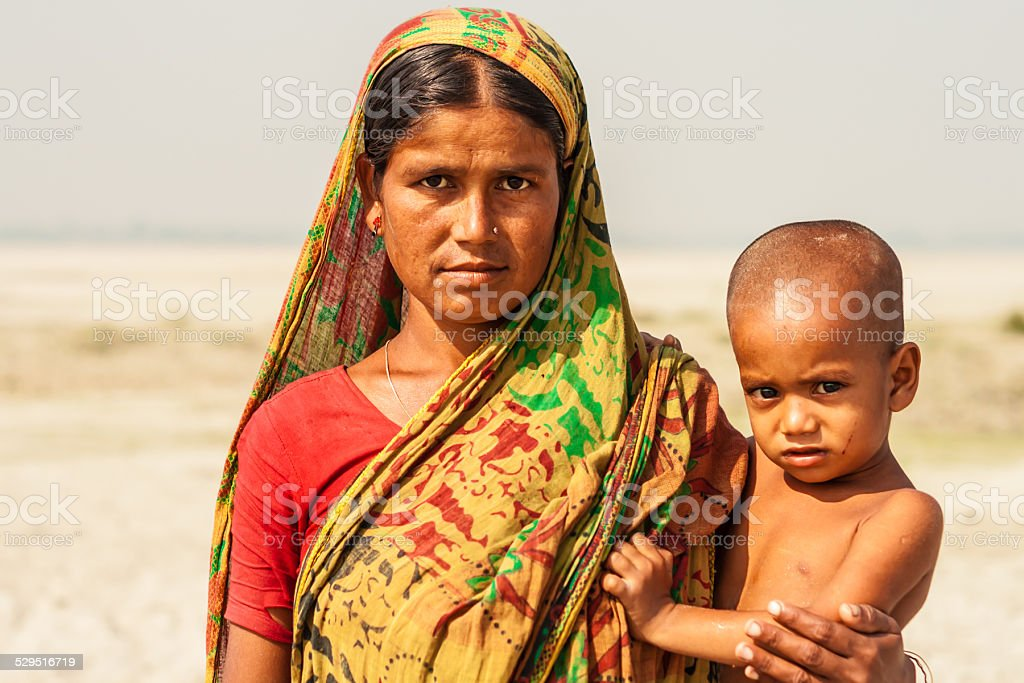 Bangladeshi Mother and Child stock photo