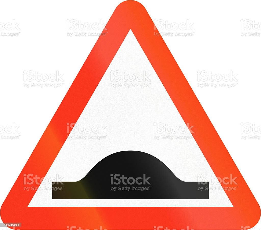 Bangladeshi Speed Bump Sign vector art illustration