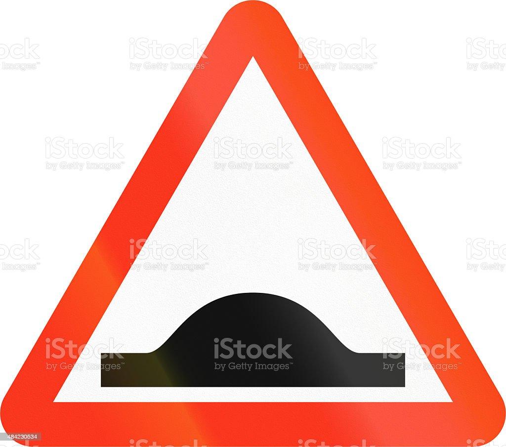 Bangladeshi Speed Bump Sign stock photo