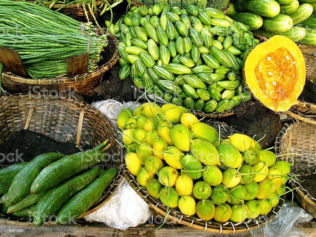 Bangledesh Fruit Market royalty-free stock photo
