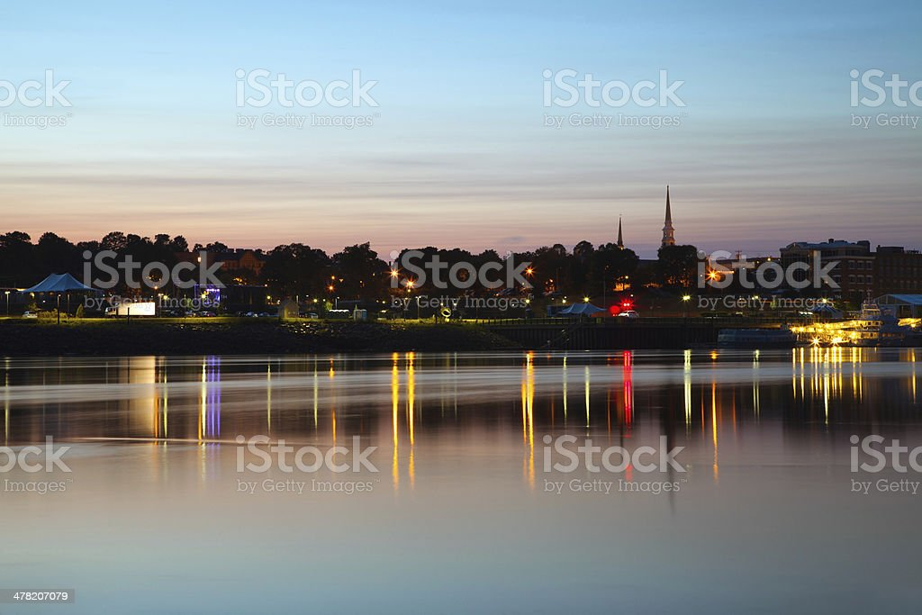 Bangor Maine stock photo
