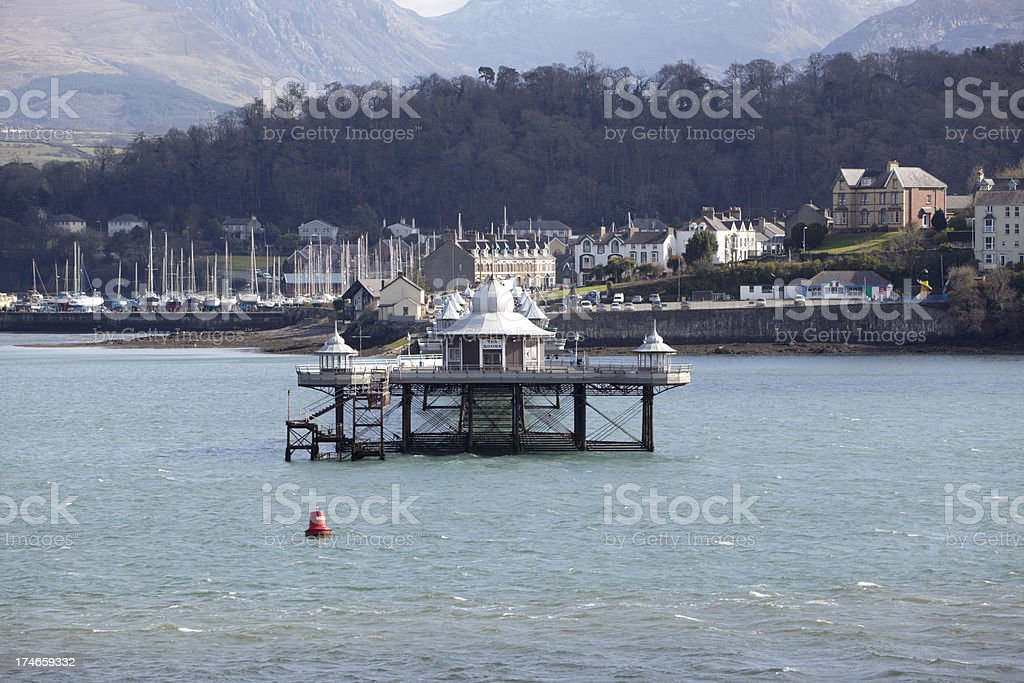 Bangor Pier, Menai Straits, Wales stock photo