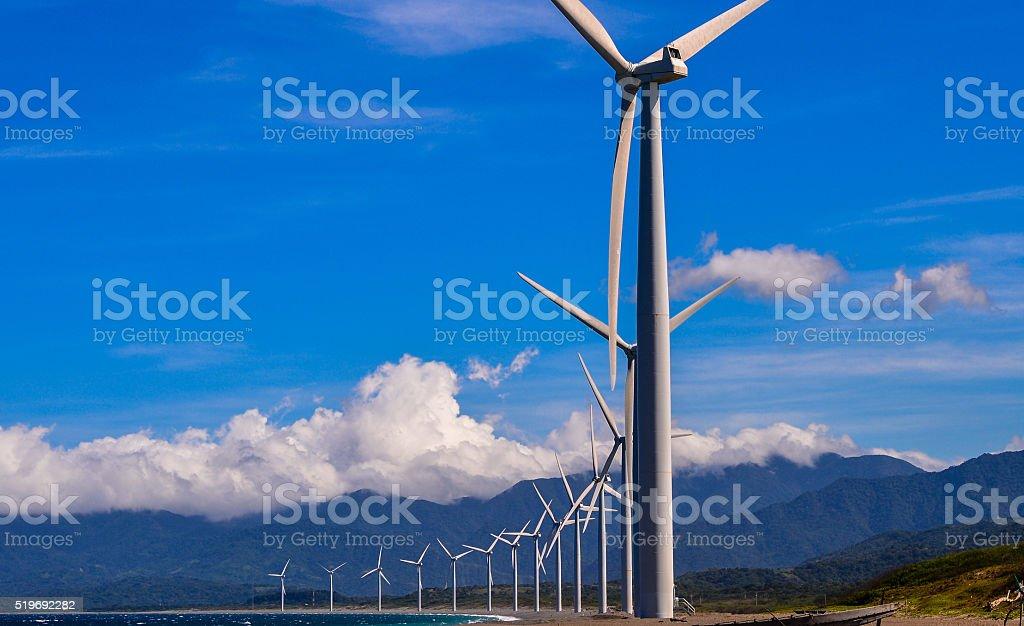 Bangui Wind Farm - Bangui, Ilocos Norte, Philippines stock photo