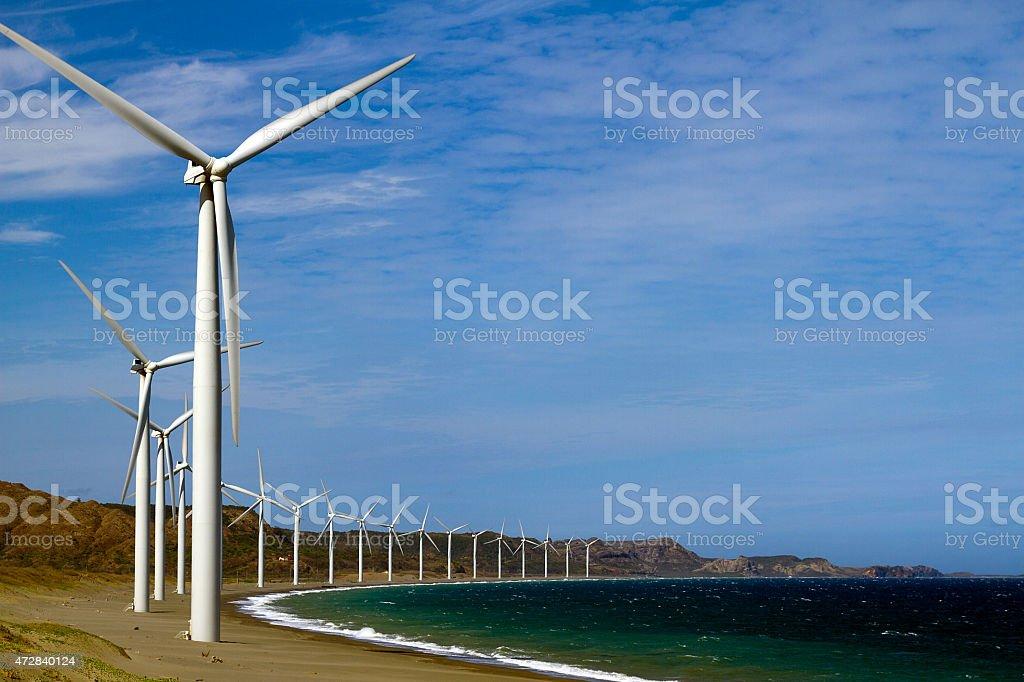 Bangui Wind Farm stock photo