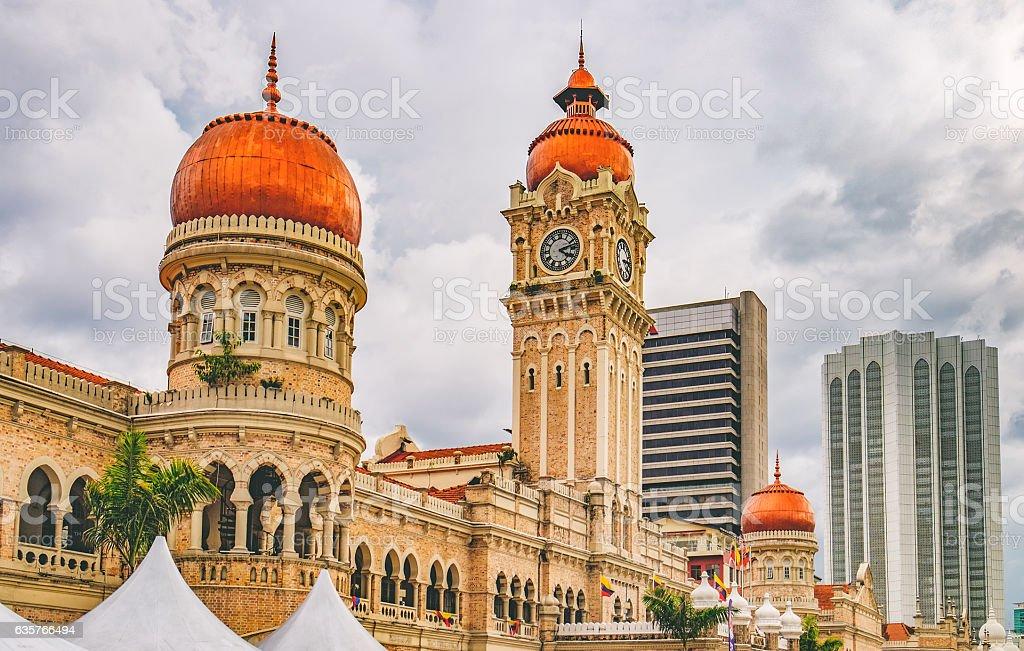 Bangunan Sultan Abdul Samad in Kuala Lumpur, Malaysia stock photo