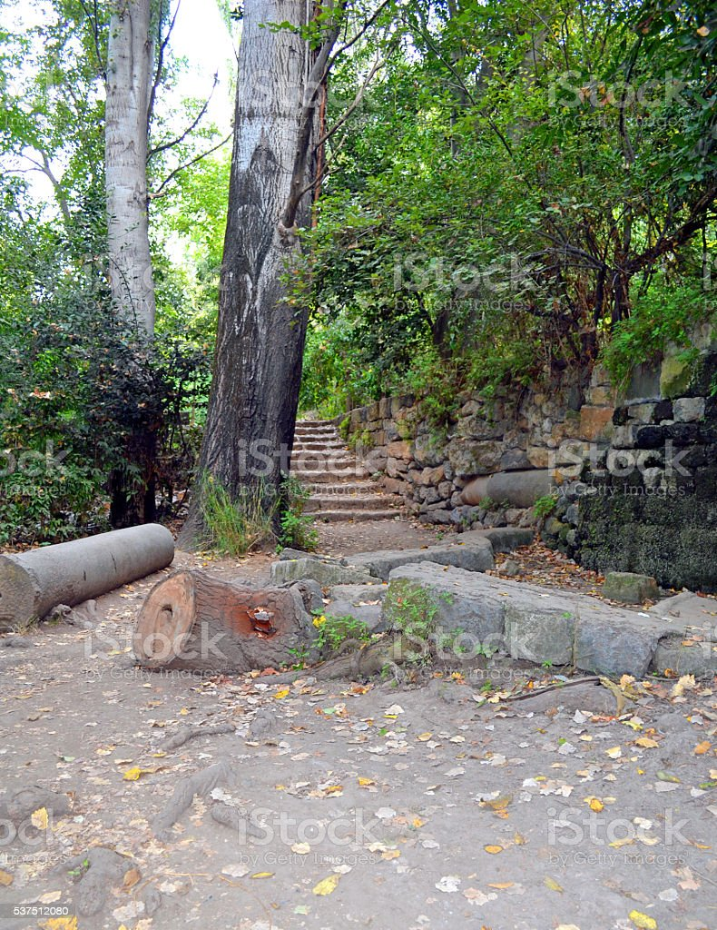 Banias Path stock photo