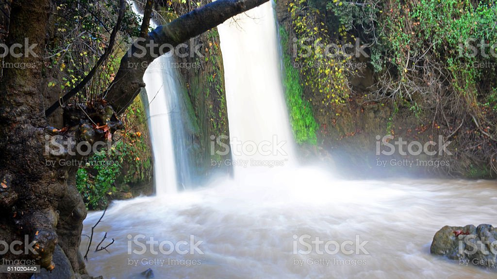 Banias waterfall, Israel stock photo