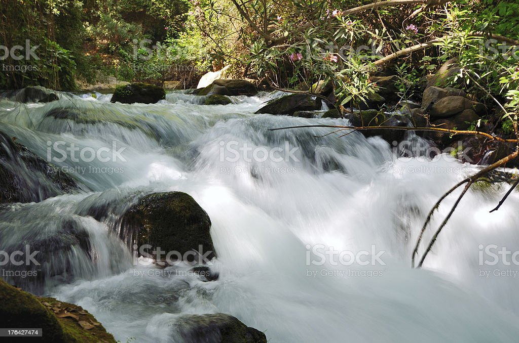 Banias Waterfall stock photo
