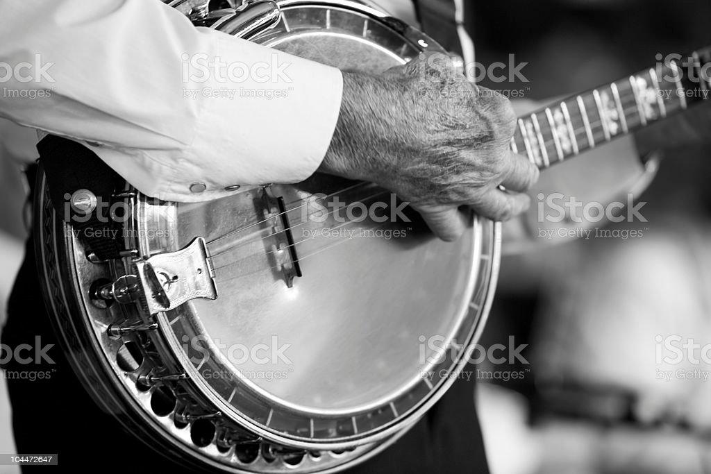 Banjo BW stock photo