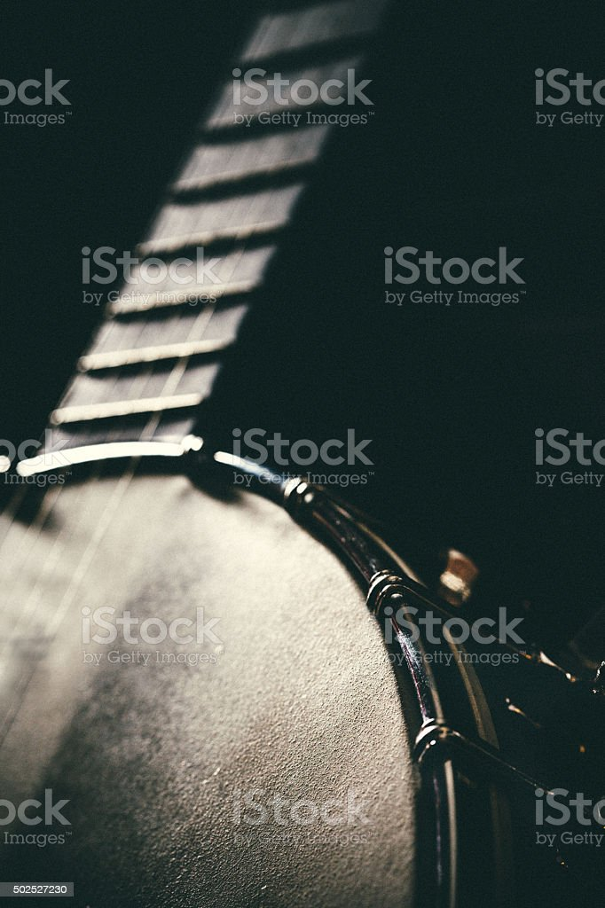 Banjo Instrument Detail stock photo