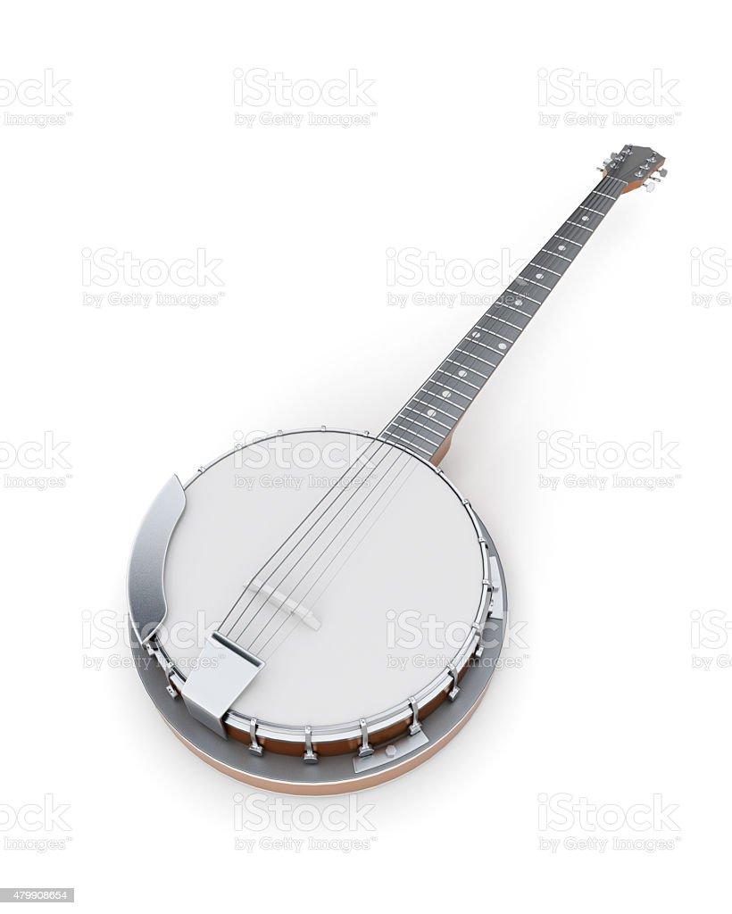 Banjo on a white stock photo